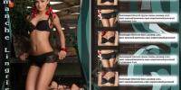 Макет рекламы женского белья